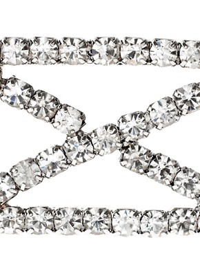 Image 3 ofASOS Diamante Criss Cross Pattern Stretch Headband