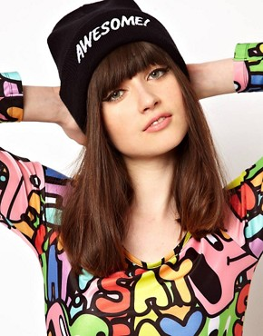 Image 1 ofLazy Oaf Awesome Beanie Hat