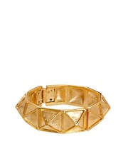 Kenneth Jay Lane Gold Pyramid Stud Bracelet
