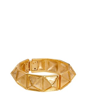 Image 1 ofKenneth Jay Lane Gold Pyramid Stud Bracelet