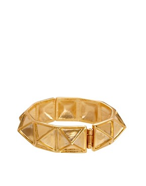 Image 2 ofKenneth Jay Lane Gold Pyramid Stud Bracelet