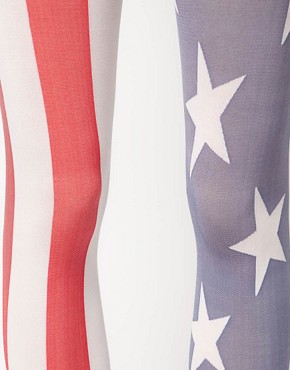 Bild 2 von House of Holland for Pretty Polly  Strumpfhose mit USA-Flagge