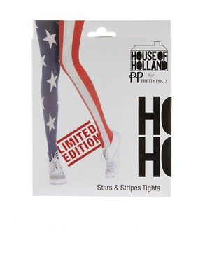 Bild 3 von House of Holland for Pretty Polly  Strumpfhose mit USA-Flagge