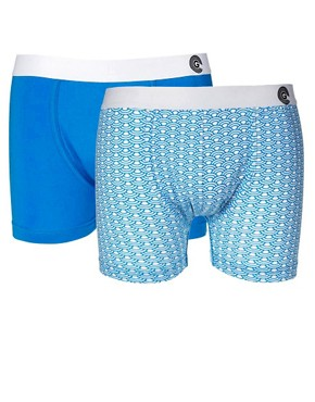 Image 1 ofGolden Child Blue Waves 2 Pack Trunks
