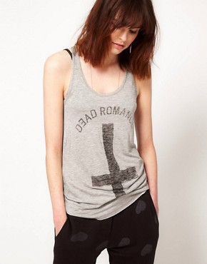 Image 1 ofZoe Karssen Dead Romance Loose Fit Tank