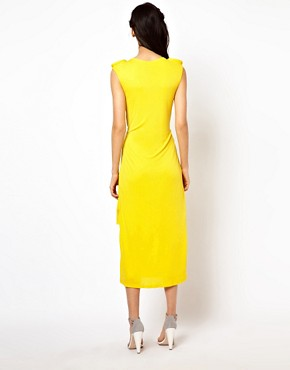 Image 2 ofKore by Sophia Kokosalaki Dress With Tube Shoulder Line And Cape Back