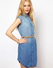 River Island Studded Denim Western Dress