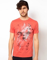 Paul Smith Jeans T-Shirt with Skull Print