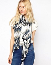 New Look Sparkle Ikat Print Scarf