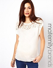 New Look Maternity Lace Yoke T-Shirt