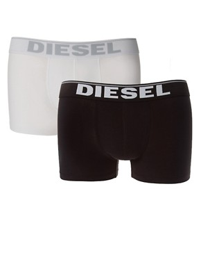 Bild 1 von Diesel  Elastische Baumwoll-Unterhosen im 2er-Set