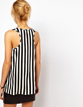 Image 2 ofASOS Vest In Stripe Print