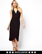 Love Midi Dress With Wrap Front