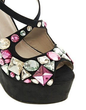 Image 2 ofASOS HIGH IN THE SKY Embellished Wedges