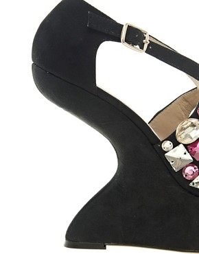 Image 4 ofASOS HIGH IN THE SKY Embellished Wedges