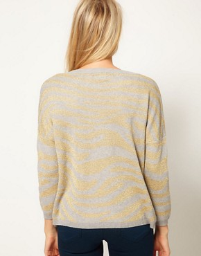 Image 2 ofASOS Animal Metallic Jumper
