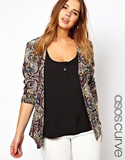 Esclusiva ASOS CURVE - Blazer con stampa cachemire