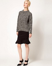 Preen Line Danna Skirt with Fluted Hem