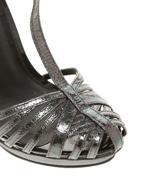 Image 2 ofASOS HIGH VOLTAGE Caged Heeled Sandals