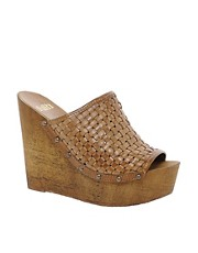 Faith Dela Leather Mule Sandals