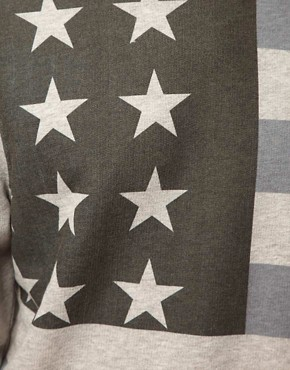 Image 3 ofASOS Sweatshirt With Oversized Flag Print