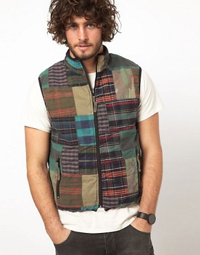 Image 1 ofDenim &amp; Supply Ralph Lauren Patchwork Gilet