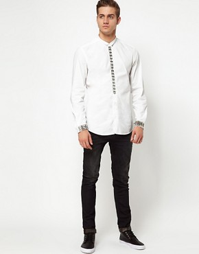 Image 4 ofDiesel Shirt Smiskar Front Wing Collar
