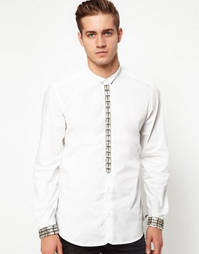 Image 1 ofDiesel Shirt Smiskar Front Wing Collar