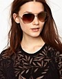 Image 3 ofMango Graduated Lens Aviator Sunglasses