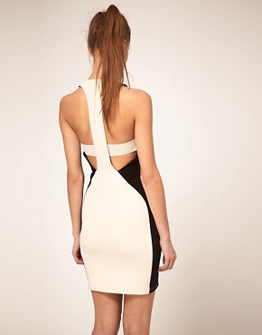Image 1 ofASOS Bodycon Dress with Zip Front