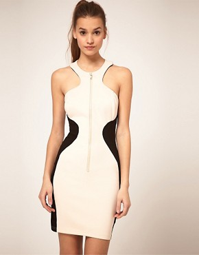 Image 2 ofASOS Bodycon Dress with Zip Front