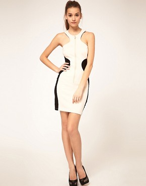 Image 4 ofASOS Bodycon Dress with Zip Front
