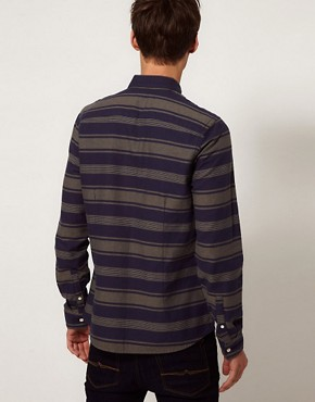 Image 2 ofASOS Stripe Shirt In Heavy Twill