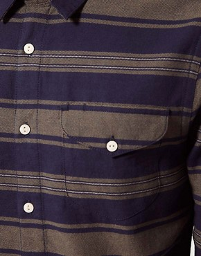 Image 3 ofASOS Stripe Shirt In Heavy Twill