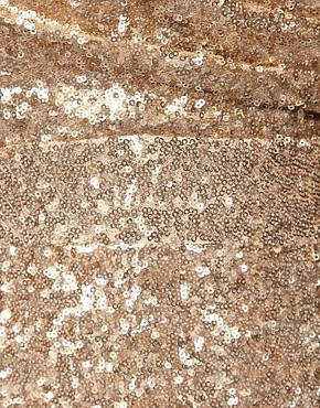 Image 3 ofTFNC Bandeau Sweetheart Sequin Dress