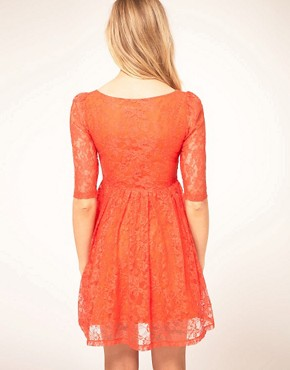 Image 2 ofKookai Lace Dress With Scoop Neck