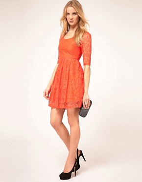 Image 4 ofKookai Lace Dress With Scoop Neck