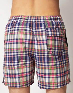 Image 2 ofFred Perry Check Swim Shorts