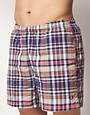 Image 1 ofFred Perry Check Swim Shorts