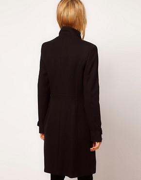 Image 2 ofMango Funnel Neck Military Coat