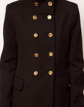 Image 3 ofMango Funnel Neck Military Coat