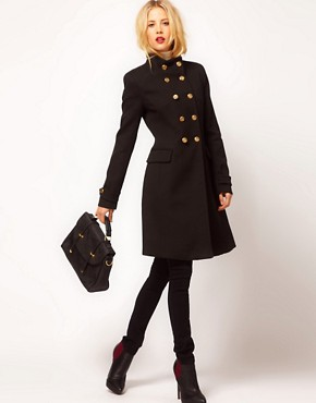 Image 4 ofMango Funnel Neck Military Coat