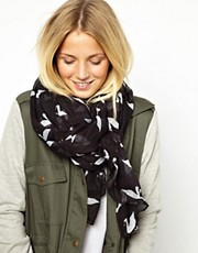 ASOS Swan Print On Oversized Scarf