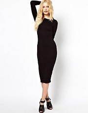 River Island Longsleeve Column Midi Dress
