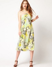 Raasta Printed Midi Dress