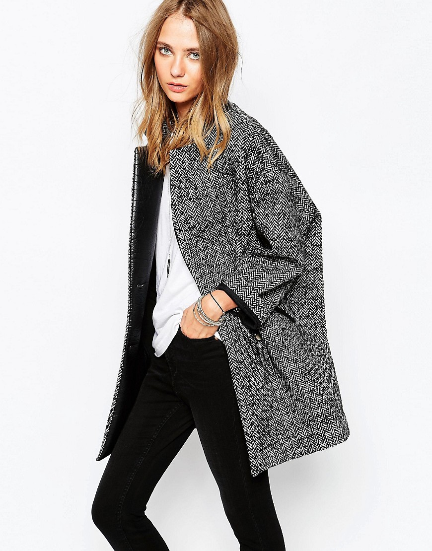 Image 1 of Gat Rimon Camie Wool Mix Coat in Grey