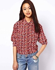 Equipment Silk Floral Print Shirt