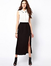 Vero Moda Thigh Split Midi Skirt