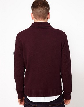 Image 2 ofBen Sherman Shawl Collar Jumper