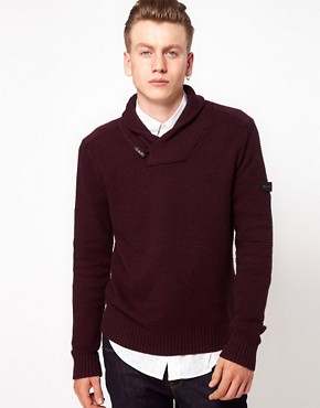 Image 1 ofBen Sherman Shawl Collar Jumper
